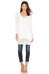 Charli V Neck Sweater White