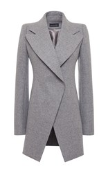 David Koma A Line Wool Coat Dark Grey