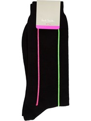Paul Smith Neon Striped Socks Black
