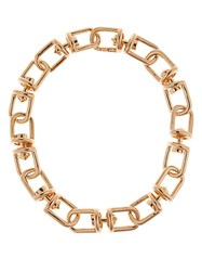 Eddie Borgo Frame Link Gold Plated Necklace Yellow Gold