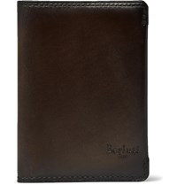 Berluti Ideal Leather Bifold Cardholder Brown
