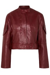 Petar Petrov Malen Leather Jacket Red