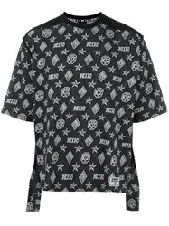Ktz Monogram Print T Shirt Black