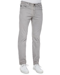 Ag Adriano Goldschmied Graduate Sulfur Wash Jeans Light Gray
