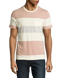 Selected Striped Cotton Tee Orange