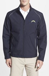 Cutter And Buck Men's Big Tall 'San Diego Chargers Beacon' Weathertec Wind Water Resistant Jacket