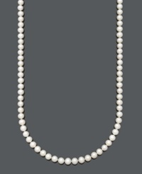 Belle De Mer Cultured Freshwater Pearl Strand Necklace 7 1 2 8 1 2 Mm In 14K Gold