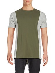 Zanerobe Side Flintlock Colorblock T Shirt Olive Green