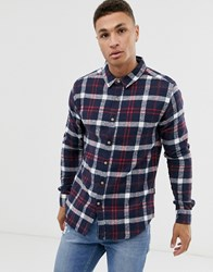 Soul Star Fitted Check Shirt Black