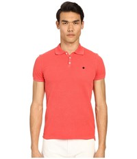 Dsquared Classic Fit Preppy Polo Red Men's Short Sleeve Knit