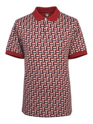 Pretty Green Men's Plecteom Jacquard Polo Red