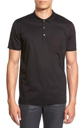 Men's Hugo 'Dyron' Extra Trim Fit Polo Black