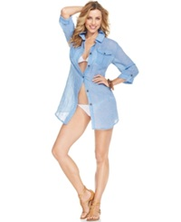 Dotti Long Sleeve Chambray Cover Up