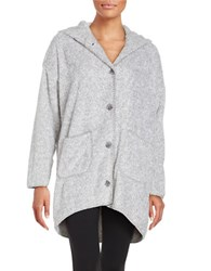 Pj Salvage Oversized Hooded Cardigan Grey
