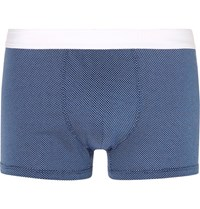 Dolce And Gabbana Printed Cotton Jersey Boxer Briefs Navy