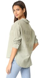 Sundry Army Of Lovers Henley Shirt Olive