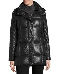 Marc New York Alise Quilted Puffer Coat Black