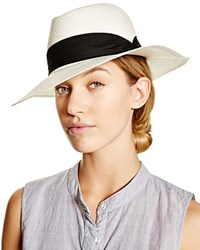 Tirabasso Wide Brim Fedora Natural Black