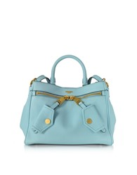 Moschino Handbags Light Blue Leather Satchel Bag