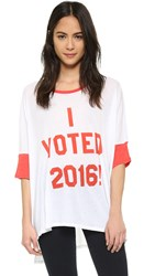 Wildfox Couture I Voted Oversized Tee Clean White Marinara