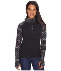 Obermeyer Gracey Hooded Fleece Black Snowflake Print Women's Fleece