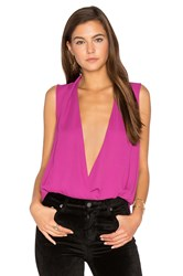 Three Eighty Two Monroe Surplice Tank Fuchsia