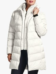Four Seasons Wadded Three Quarter Length Coat White