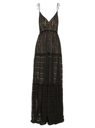 Erdem Solene Floral Striped Lace Gown