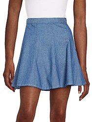 Rag And Bone The Suki Chambray Mini Skirt Rinse