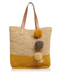 Mar Y Sol Color Block Tote Natural Sunflower