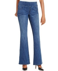 Style And Co. Flare Leg Pull On Jeans Vista Wash Only At Macy's