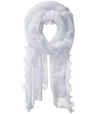 Collection Xiix Sheer Knit Evening Wrap White Scarves