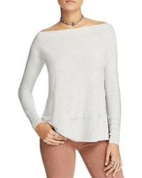 Free People Luna Side Slit Tunic Top Grey
