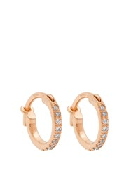 Ileana Makri Diamond And Rose Gold Earrings