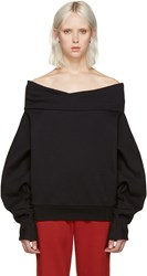 Off White Black The Shoulder Sweatshirt