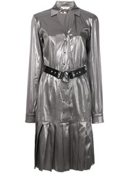Alyx Pleated Dress Silk S Metallic
