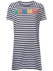 Yazbukey Summer T Shirt Dress Blue