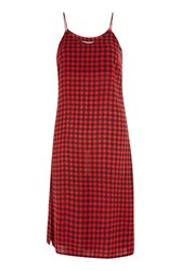 Glamorous Gingham Check Camisole Dress By Red