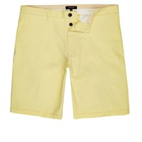 River Island Mens Yellow Slim Fit Chino Shorts
