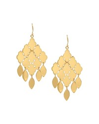 Charm And Chain Shiny Chandelier Earrings Gold