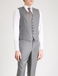 Gieves And Hawkes Micro Textured Wool Waistcoat Grey
