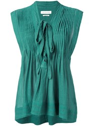 Etoile Isabel Marant Pintuck Front Top Green