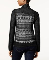 Styleandco. Style And Co. Drape Front Lace Back Cardigan Only At Macy's