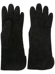 Yves Saint Laurent Vintage Short Gloves Black