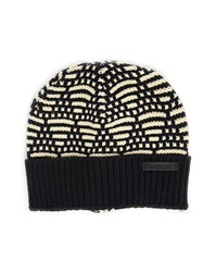 Scotch And Soda Mottled Navy Jacquard Woollen Hat