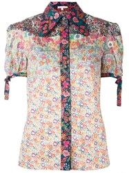 Olympia Le Tan Floral Print Shirt