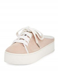 Opening Ceremony Cici Lace Up Platform Mule Sneaker Light Pink