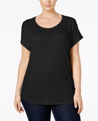 Michael Kors Plus Size Weekend Burnout T Shirt Black