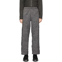 Our Legacy Grey Crushed Memory Striped Trousers