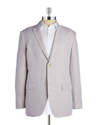 Perry Ellis Linen Blend Jacket Beige